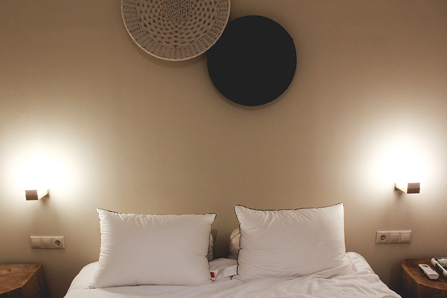 double bedroom in Ederlezi boutique hotel Athens accommodation