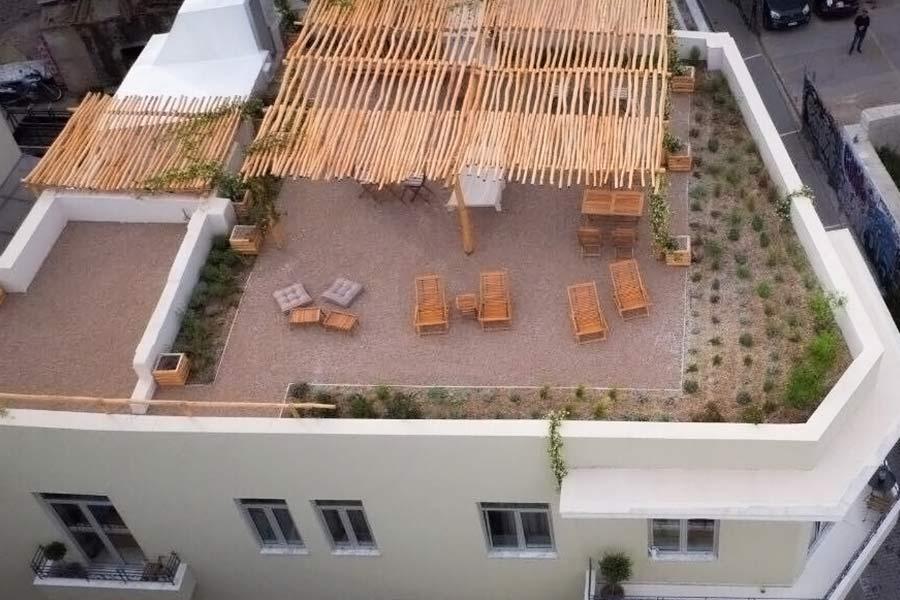 roof garden in Athens